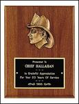 FIREMEN HEAD PLAQUE - Product Image