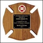 FIREMEN MALTESE CROSS PLAQUE - Product Image