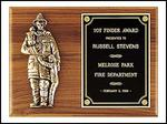 FIREMEN WITH CHILD PLAQUE - Product Image