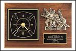 FIREMEN CLOCK PLAQUE - Product Image