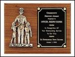 POLICEMAN WITH CHILD PLAQUE - Product Image
