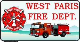FIRE DEPARTMENT LICENSE PLATE - Product Image