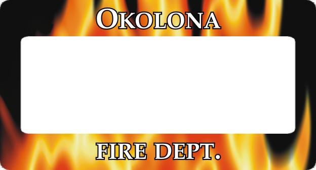 FIRE DEPT LICENSE PLATE FRAME - Product Image