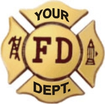 FIRE DEPT BUCKLE MALTESE CROSS - Product Image