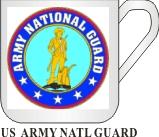US ARMY NATIONAL GUARD MUG - Product Image
