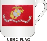US MARINE CORPS FLAG MUG - Product Image