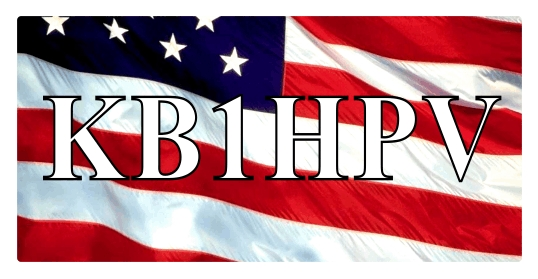 HAM RADIO CALL TAG  US FLAG BACKROUND LARGE - Product Image
