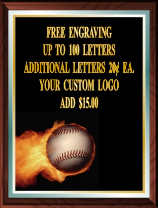 BASEBALL FIRE PLAQUE - Product Image
