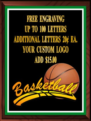 BASKETBALL PLAQUE - Product Image