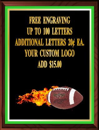 FOOTBALL FIRE PLAQUE - Product Image