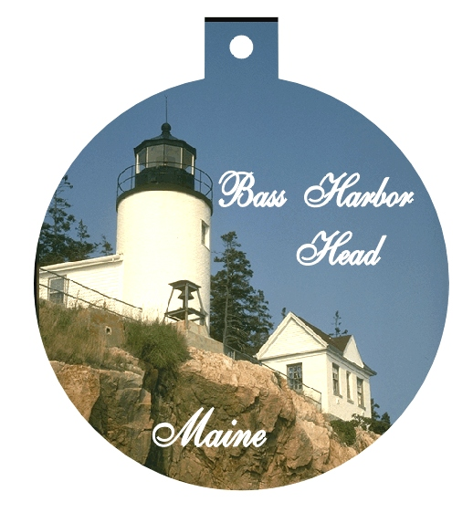CHRISTMAS ORNAMENT BASS HARBOR LIGHT - Product Image