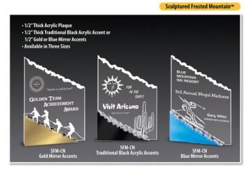 ACRYLIC MOUNTAIN PLAQUE - Product Image