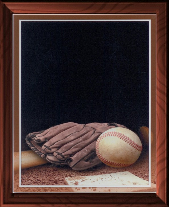 BASEBALL GLOVE PLAQUE - Product Image