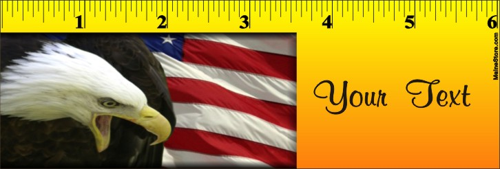 BOOKMARK / RULER EAGLE FLAG - Product Image