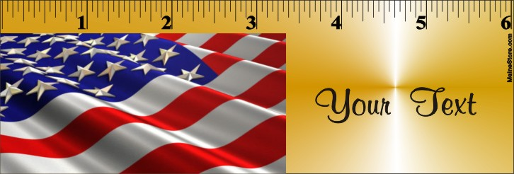BOOKMARK / RULER US FLAG - Product Image
