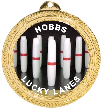 CANDLEPIN BOWLING MEDAL - Product Image