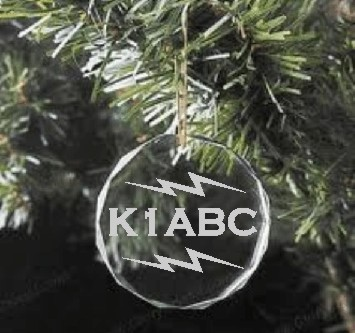 CHRISTMAS ORNAMENT HAM RADIO CRYSTAL - Product Image
