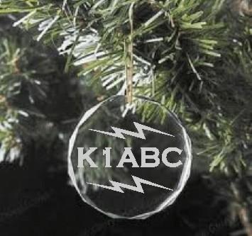CHRISTMAS ORNAMENT HAM RADIO CRYSTAL - Product Image