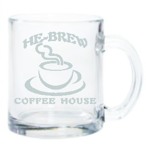 COFFEE MUG GLASS 12 OZ - Product Image