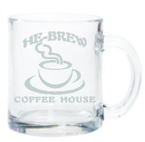 COFFEE MUG GLASS 12 OZ - Product Image