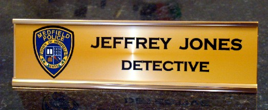 DESK NAME PLATE METAL - Product Image