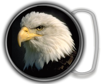 EAGLE HEAD BUCKLE ROUND - Product Image