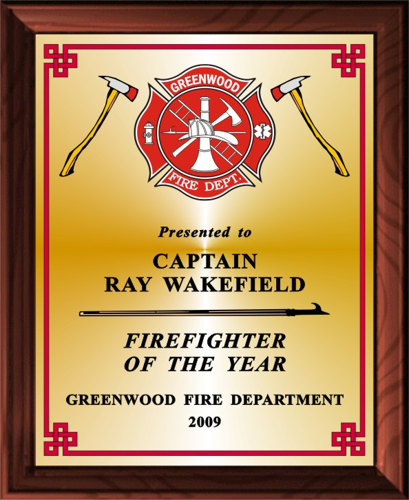 FIREMAN'S MALTESE CROSS PLAQUE - Product Image