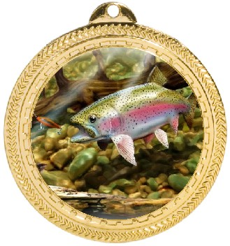 FISH TROUT MEDAL - Product Image