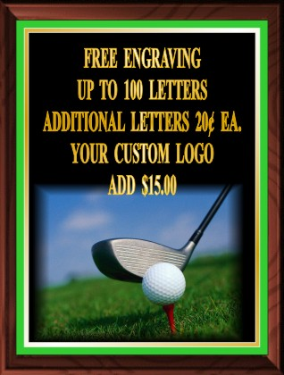 GOLF DESIGN PLAQUE - Product Image