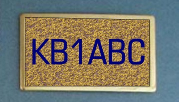 HAM RADIO BUCKLE SQUARE CAST - Product Image