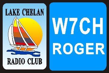 HAM RADIO CALL TAG  LAKE CHELAN ARC LARGE - Product Image