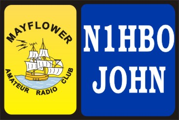 HAM RADIO CALL TAG MAYFLOWER ARC LARGE