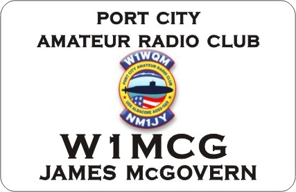 HAM RADIO CALL TAG  PORT CITY ARC LARGE - Product Image