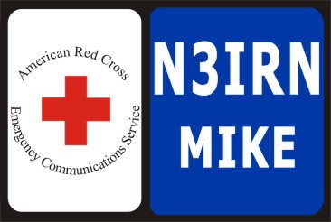 HAM RADIO CALL TAG RED CROSS - Product Image