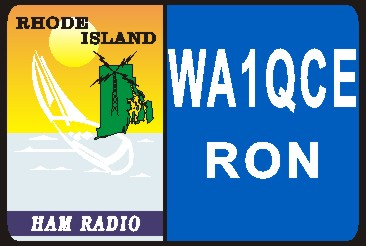 HAM RADIO CALL TAG  RHODE ISLAND LARGE - Product Image