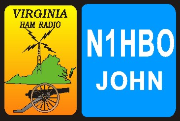 HAM RADIO CALL TAG  VIRGINIA  LARGE - Product Image