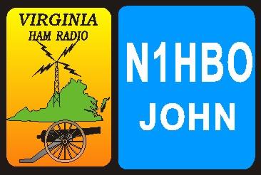 HAM RADIO CALL TAG  VIRGINIA  LARGE - Product Image