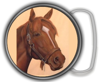 HORSE BUCKLE ROUND - Product Image