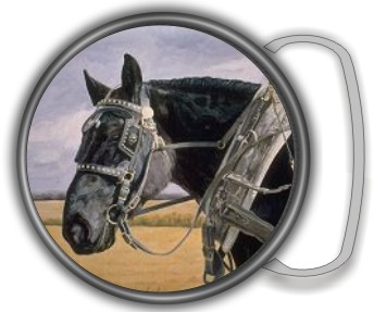 HORSE PULLING BUCKLE ROUND - Product Image