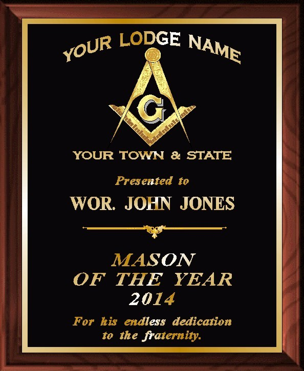 MASON OF THE YEAR PLAQUE - Product Image