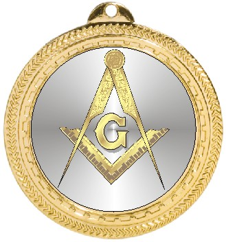 MASONIC SQUARE & COMPASS MEDAL - Product Image