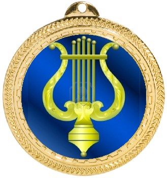 MUSIC LYRE MEDAL - Product Image