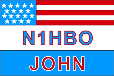 NAME  TAG  LARGE  US  FLAG 3 LINE - Product Image