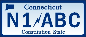 NAME  TAG OR KEY RING CONNECTICUT LICENSE PLATE - Product Image