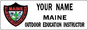 NAME  TAG  OUTDOOR  EDUCATION  INSTRUCTOR  SMALL - Product Image
