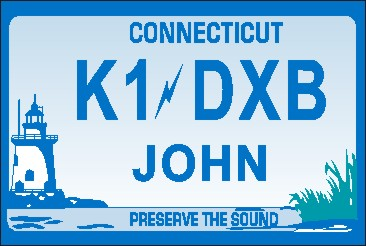 NAME  TAG  SMALL  CONNECTICUT SOUND - Product Image