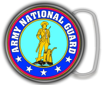 NATIONAL GUARD BUCKLE ROUND - Product Image