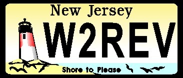 NEW JERSEY LICENSE PLATE NAME TAG SMALL - Product Image