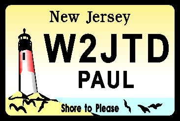 NEW JERSEY LIGHTHOUSE NAME TAG LARGE - Product Image