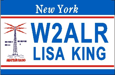 NEW YORK AMATEUR RADIO NAME TAG LARGE - Product Image
